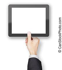 reso,  copyspace, tavoletta, generico, mano, presa a terra,  3D