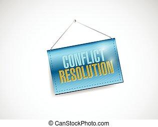 resolución, bandera, conflicto, ahorcadura