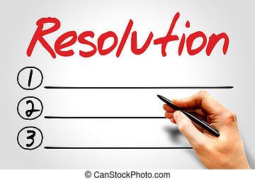 Resolution blank list, fitness, sport, health concept