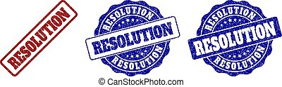 RESOLUTION Grunge Stamp Seals