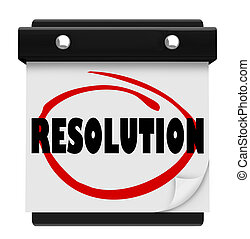 Resolution New Year Promise Vow Achieve Goal Resolved...