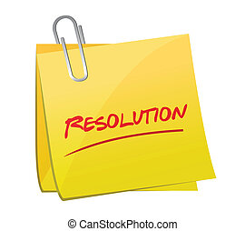 resolution post message illustration design