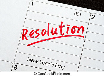 resolutions, 新年