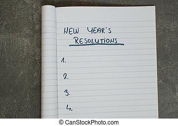 resolutions, 新年` s