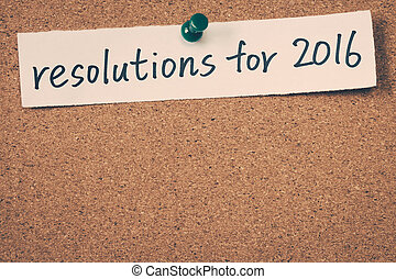 resolutions, 2016
