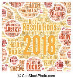 Resolutions 2018 health word cloud