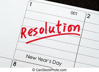 resolutions, ano novo