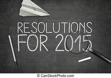 resolutions, für, 2015, begriff, auf, tafel
