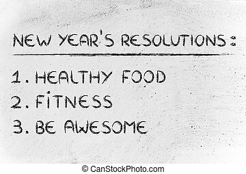 resolutions:, fitness, gymnase, nouvelle année