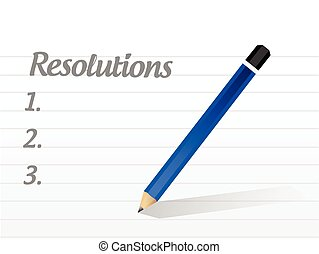 resolutions list illustration design over a white background...