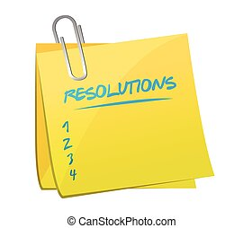 resolutions list memo post illustration design over a white ...