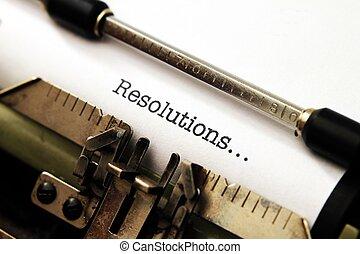 Resolutions on typewriter