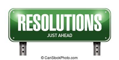 resolutions road sign illustration