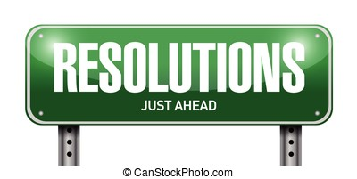 resolutions road sign illustration design over a white...