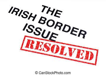resolved, σύνορο , ιρλανδικός , θέμα