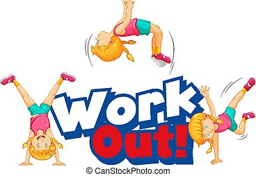 resolver, palabra, niño, ejercicio, diseño, fuente