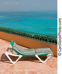 Resort Balcony Lounge Chairs - Resort hotel balcony with...