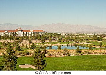 Resort Building at a Desert Golf Course