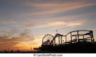 resort., ca, californie, amusement, iconique, parc, ciel, ...