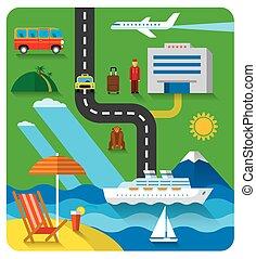 resort concept flat illustration