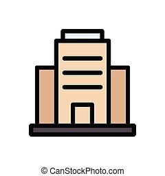 resort  flat color icon