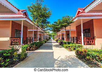 Resort hotel and bungalow and home