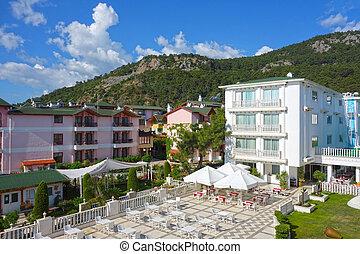 Resort hotel and garden
