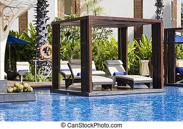Resort pool in Thailand
