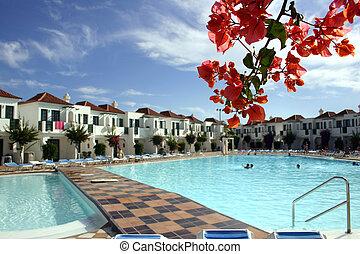 Resort Scenic - Condominium with bougainvillea