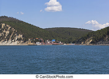 Resort settlement Dzhanhot on the Black Sea coast in district of Gelendzhik, Krasnodar region,