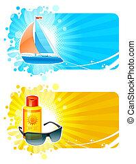 Resort & travel vector frames