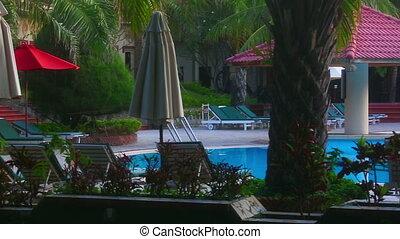 Resort - View of swimming pool in the resort hotel.