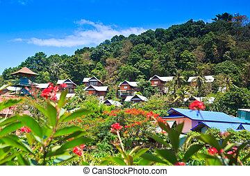 Resorts on the island