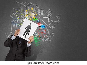 resourc, 本, 人々, ビジネスマン, 選択, アイコン, 人間の術中