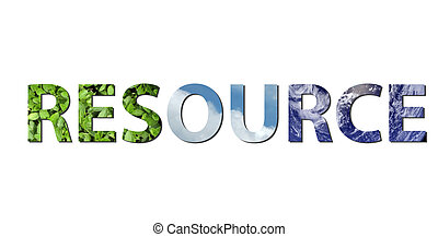 Resource - The word resource is written composing of...