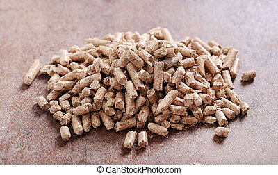 Pellets - Resource. Pellets on the table