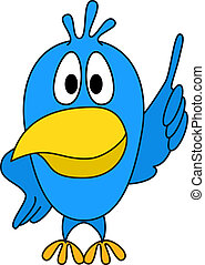 Resourceful chicken has thought up ingenious idea and has in a pointed manner lifted a wing