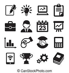 resources., amministrazione, icone, umano, affari