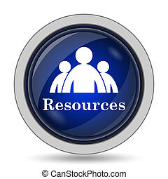 Resources icon. Internet button on white background.