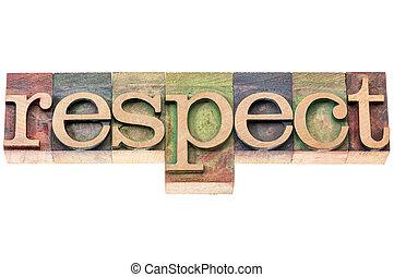 respect, bois, mot, typographie, type