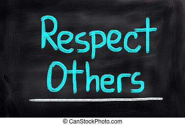 respect, concept, autres