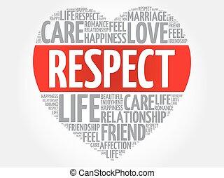 respect, concept, coeur