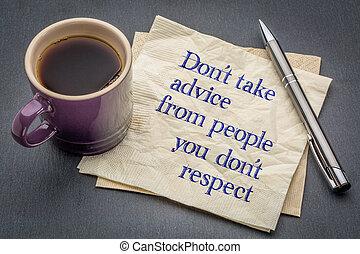 respect, concept, conseil