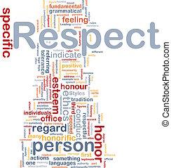 respect, concept, fond