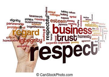 respect, concept, mot, nuage