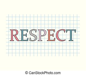 respect concept- vector illustration