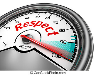 Respect conceptual meter indicate hundred per cent