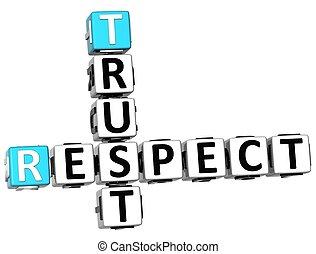 respect, confiance, 3d, mots croisés