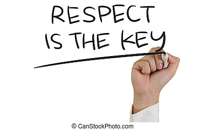 Respect is the Key - Relationship concept image of a hand...
