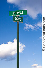 Respect-Love Sign - The intersection of respect & love...